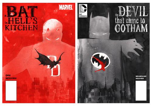 Jolies couvertures d'un crossover fictif par Dustin Nguyen (non, aucun lien de parenté avec votre serviteur)