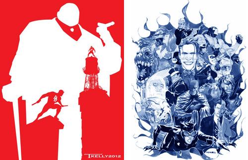 … mais Batman truste les adversaires les plus fous et les plus affreuxtandis que DD a sa galerie d'ennemis dominée par une poignée de super-vilains – Illustrations de Tom Kelly et Dustin Nguyen