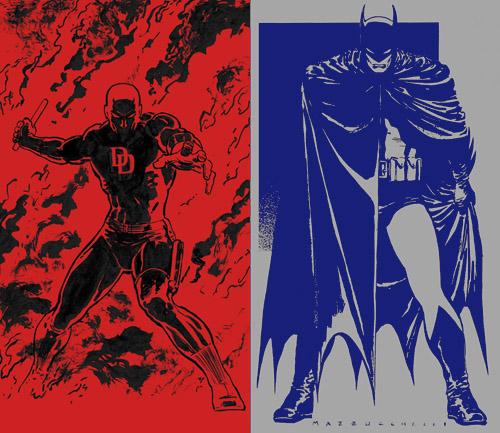 Le diable rouge et le chevalier noir, immortalisés par David Mazzucchelli