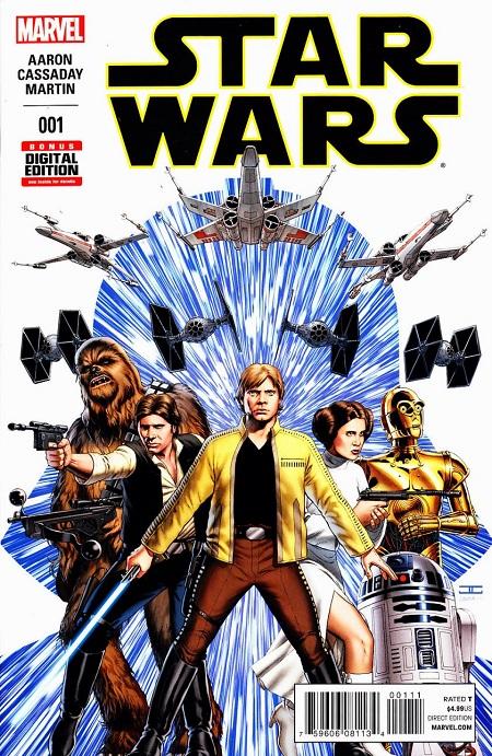Star Wars de retour (aux sources!) chez Marvel en 2015, par Jason Aaron & John Cassaday. Record de ventes sans précédent…