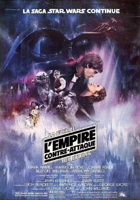 La sublime affiche française de L'Empire Contre Attaque (1981). Sans vouloir faire le vieux réac, on n'en fait plus des comme ça aujourd'hui…