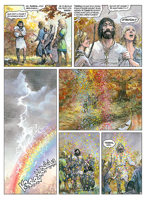 Thorgal va aller chasser l'arc en ciel une dernière fois