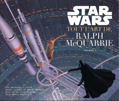 Les peintures préliminaires de Ralph McQuarrie. Génie visionnaire injustement oublié, il fut le véritable créateur visuel de l'univers Star Wars. Et lorsque George Lucas lui commanda un méchant ressemblant à l'Empereur Ming, il lui proposa un chevalier en armure noire…  Source : FNAC