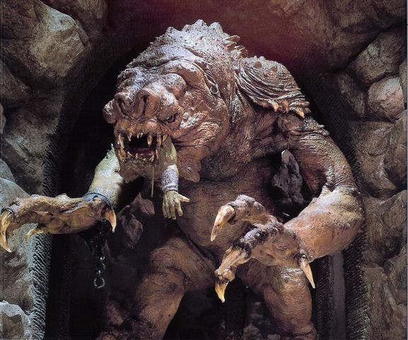 Le Rancor, dragon terrifiant d'une planète lointaine et inhospitalière… ©Lucasfilms / 20th Fox Source : Wookipedia