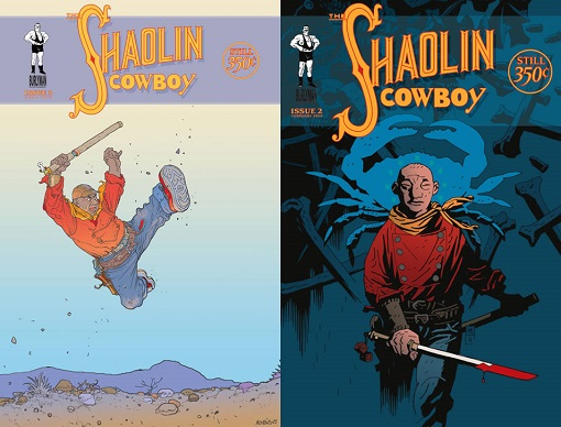 Couverture alternative de Moebius (à gauche), de Mike Mignola (à droite) scgeoff