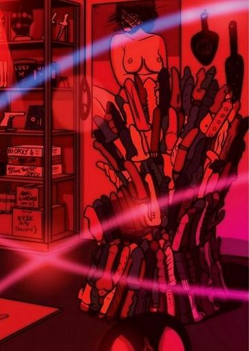 Un trône en vibromasseurs (référence à Game of Thrones)