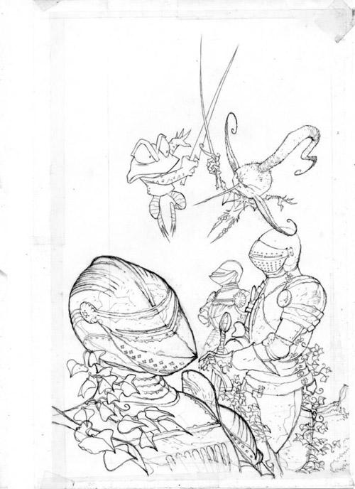 Un duel bondissant, grenouille contre lutin