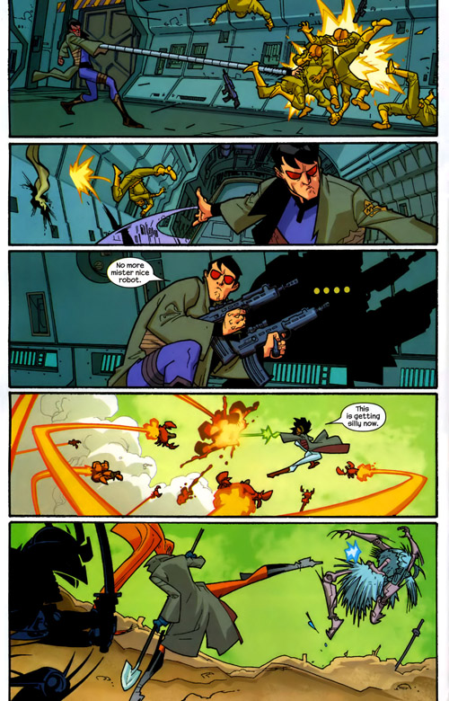 """H.A.T.E. utilise des hommes de main, mais aussi des crabes-robots et des """"samuroïds"""" !"""