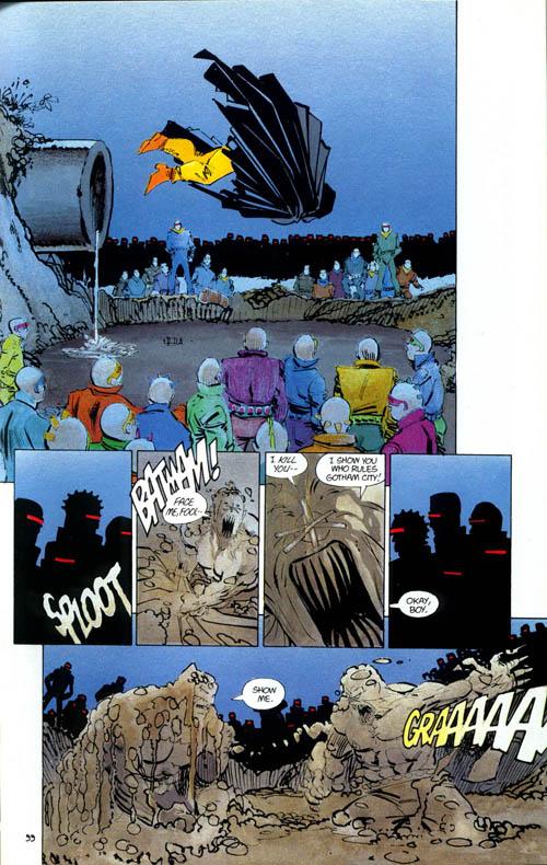 Un Batman calme et déterminé face à un leader mutant furieux