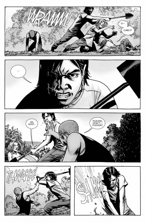 Don't ever fuck with Carl Grimes !