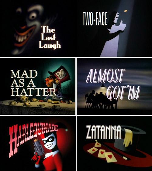 Un façonnage attentif de chaque épisode : exemple avec les illustrations de titrage, réalisées par Eric Radomski pour les deux premières saisons.