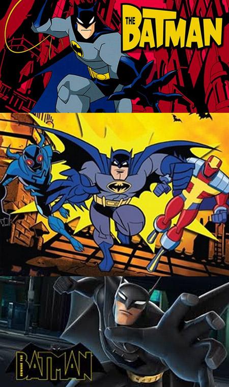 Les concepts des séries suivantes : Batman plus jeune, Batman avec des potes, Batman avec une gueule bizarre…