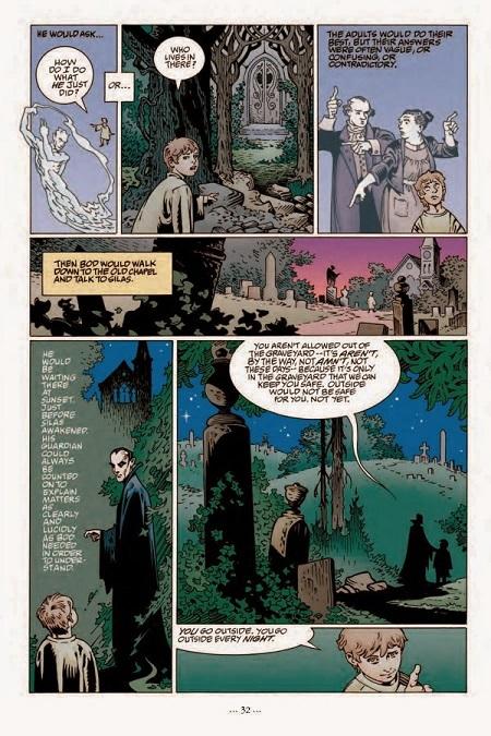 Silas, un vampire à l'ancienne nommé tuteur du jeune Nobody ! (dessin de P. Craig Russel)