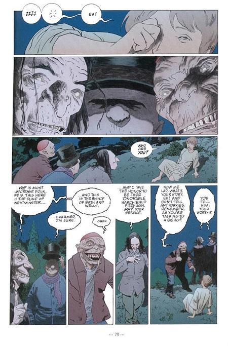 Le monde des morts peut prendre plusieurs formes, et même plusieurs formes d'illustrations… (dessin de Scott Hampton)
