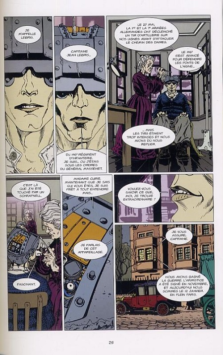 …Une Marie Curie qui répare les surhommes, comme l'Homme Truqué!