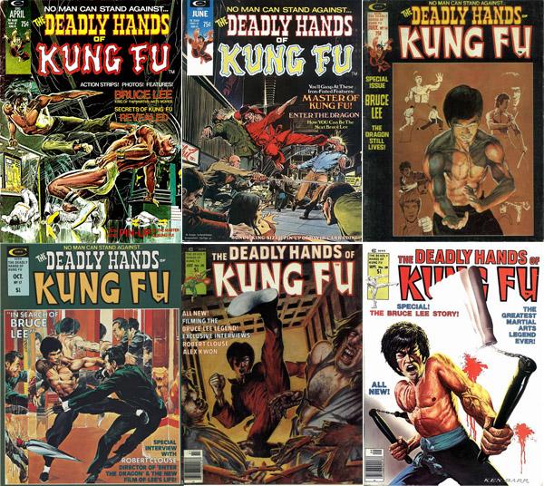 De 1974 à 1977, Bruce eut régulièrement sa place en couverture des 33 numéros de Deadly Hands of Kung Fu