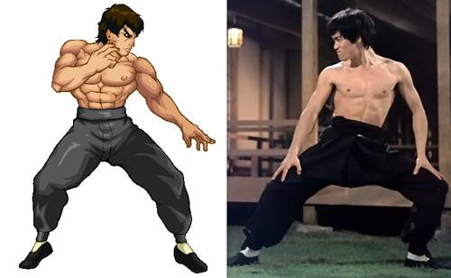 Fei Long, personnage de Street Fighter, un des nombreux clones de pixels de Bruce Lee
