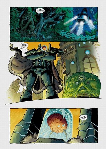 Jentu, le grand méchant Tétaldien à la conquête de l'univers: Un crétin qui n'a même pas pensé à blinder son casque lui servant de bocal à cerveau…