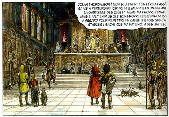 Jolan face à Odin....Il ne manque plus que le banquet d'Asterix....