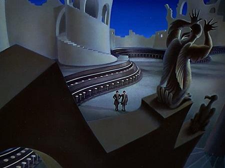 L'hallucinante forteresse du Dr T! Et c'est plus de 30 ans avant Tim Burton!
