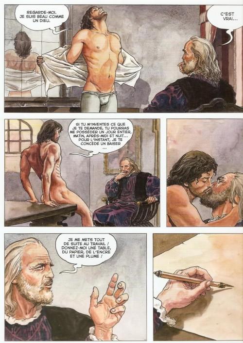 César fait le boy devant De Vinci....