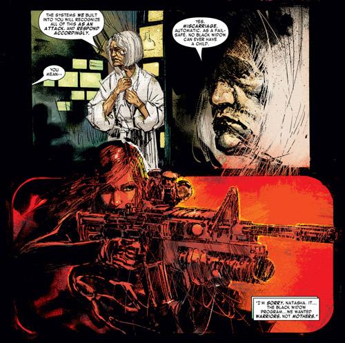 Natasha retrouve Lyudmila Kudrin, ancienne biochimiste en chef de la Red Room, et obtient une révélation sur les transformations subies par les agents de la Chambre Rouge…