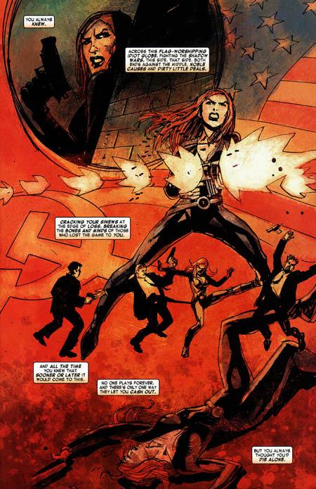 Au début du sixième numéro, Natasha pense vraiment que sa dernière heure est venue