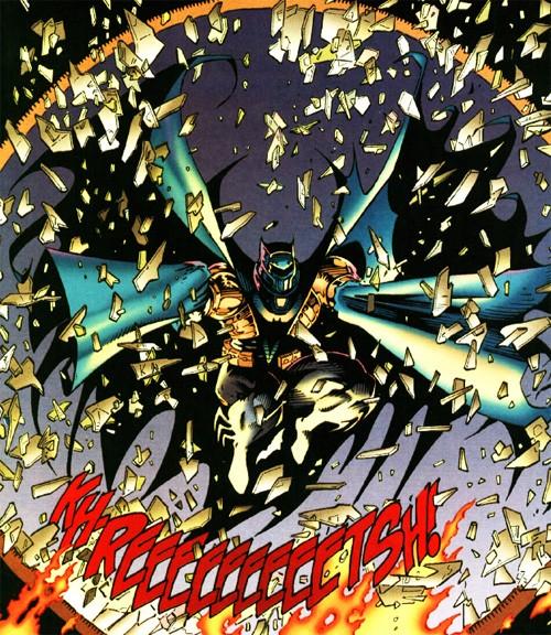 La série de crossovers redémarre avec un Batman intérimaire en armure…