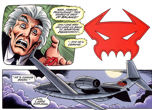 Ra's Al Ghul fait voyager le Kingpin très discrètement… dans un avion arborant son logo !