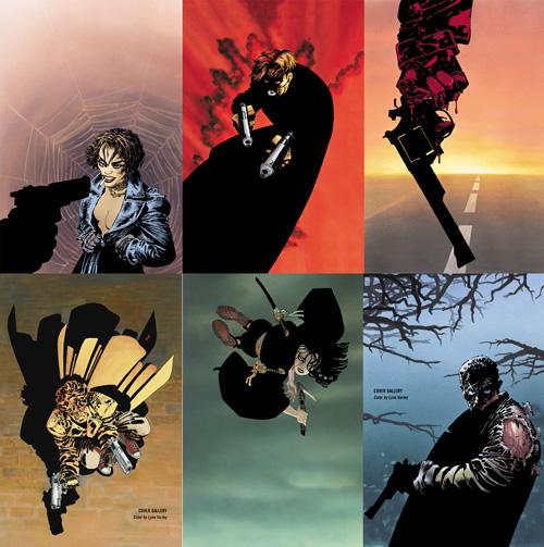 Les premières éditions de Sin City eurent droit à certaines couvertures mises en couleurs par Lynn Varley