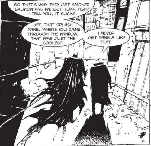 Batman et le Joker, prisonniers de leurs rôles, par Gaiman/Bisley