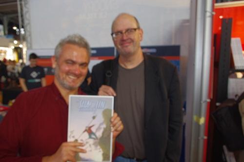 Geoff Darrow, un géant de la BD au propre comme au figuré (ce qui n'est pas le cas de l'auteur de cette photo, un certain Patrick F.)