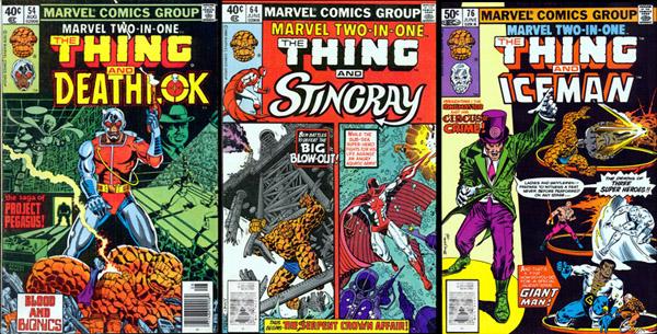 MarvelTwo-in-One : la revue où défilait nombre de seconds couteaux de l'univers Marvel