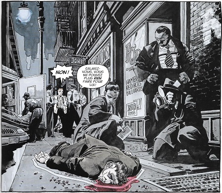 La mort de Battlin'Jack en forme de film noir de l'âge d'or Hollywoodien!