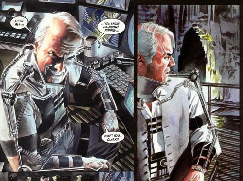 Dans cette réalité, Batman a gardé des séquelles de son combat face à Bane