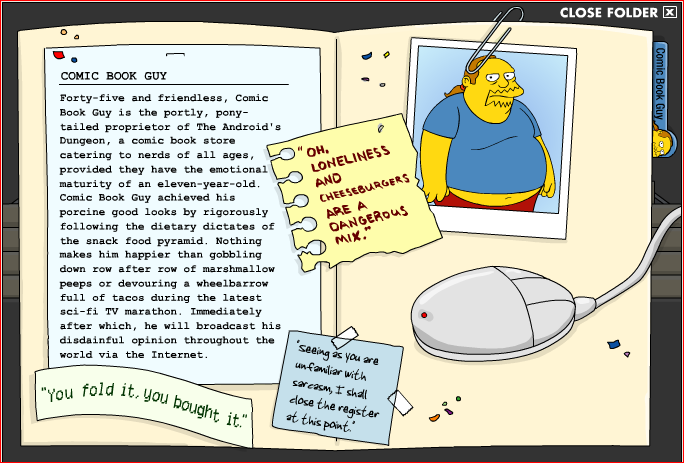 Comic Book Guy : un personnage top glamour