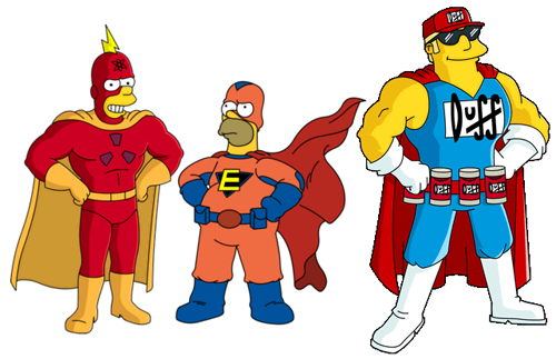 Radioactive Man, Everyman et Duff-Man