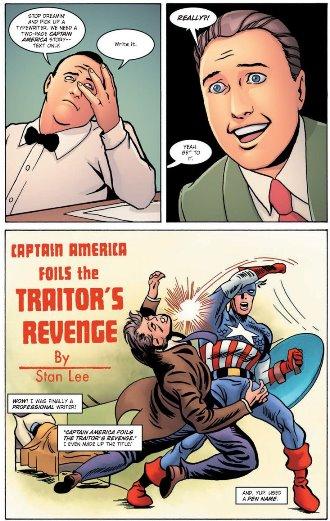 Premier travail d'écriture : un court texte pour Captain America