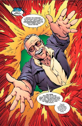 Stan Lee dans toute son emphase promotionnelle