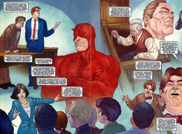 Les avant-dernières pages dessinées par Ross, avec encore un style différent mais pas forcément convaincant (et un Foggy hideux en bas à droite)