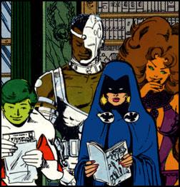 Les Jeunes Titans aiment leurs propres comics!