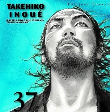 Comme souvent un portrait de Miyamoto Musashi en couverture