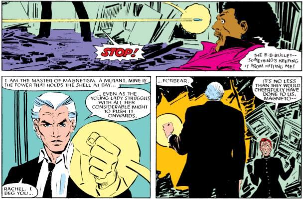 Magnéto, terroriste repenti prêche contre la peine de mort. L'essence des X-Men, inimaginable aujourd'hui.