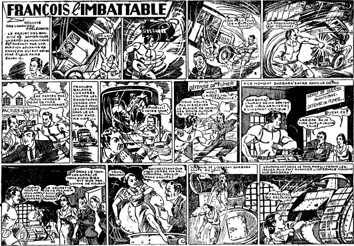 Avant Superman en rouge et blanc, il y avait Super François en noir et blanc