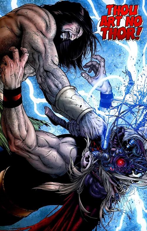 """""""Mes circuits sont niqués, il y a un truc qui fait masse… """" (Dernières pensées du Clone Robotique de Thor)"""