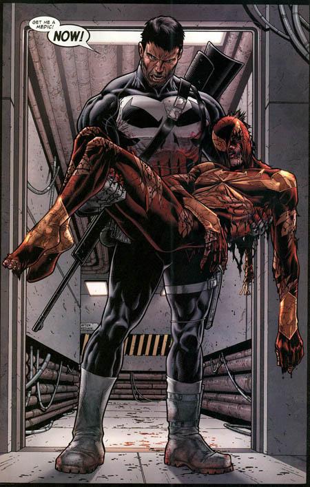 Le Punisher ne se bat pas toujours contre les justiciers en costume rouge. Parfois, il leur sauve la vie !