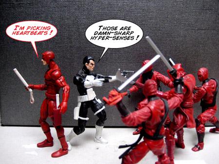 Action figures de DD et du Punisher: «Real American Heroes»!