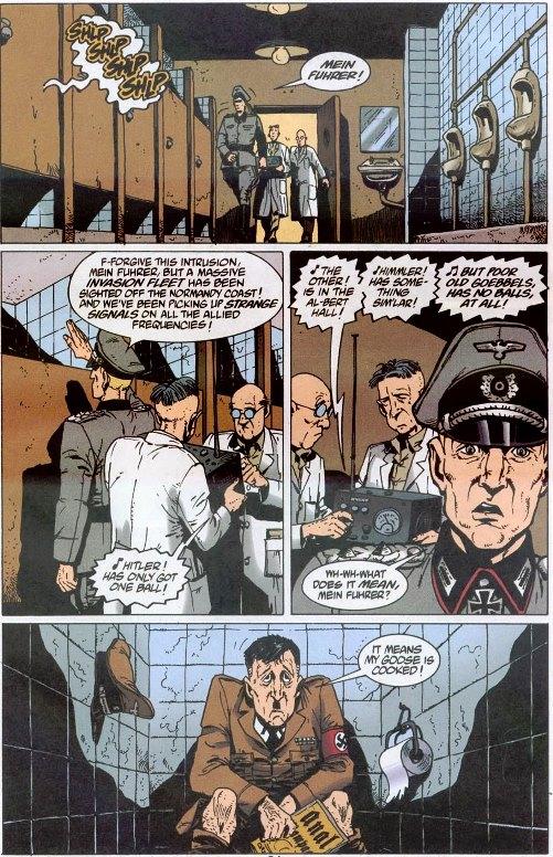 La scène obligatoire : Adolph sur le trône