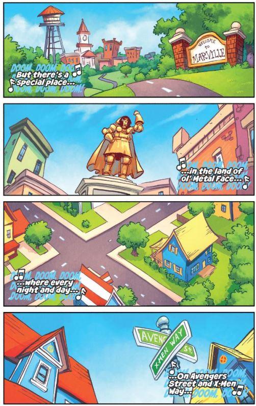 Une comptine et une ville avec 2 rues
