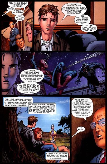 Peter Parker défend la cause des super-héros au Parlement!